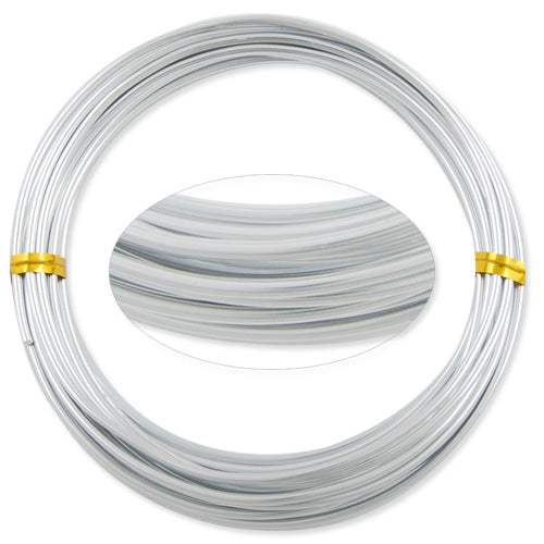2.0MM Anodized Aluminum Wire, Silver Coated, round,5M/coil,Sold Per 10 coils