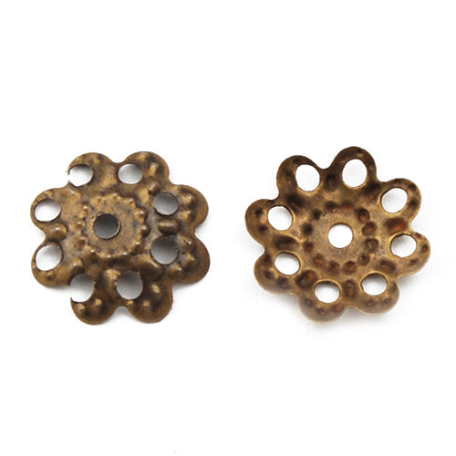 Iron Beads Caps,9MM,Antique Bronze Plated,Sold 1000 pcs per Pkg