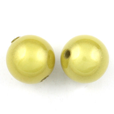 Top Quality 16mm Round Miracle Beads,Light Yellow,Sold per pkg of about 250 Pcs