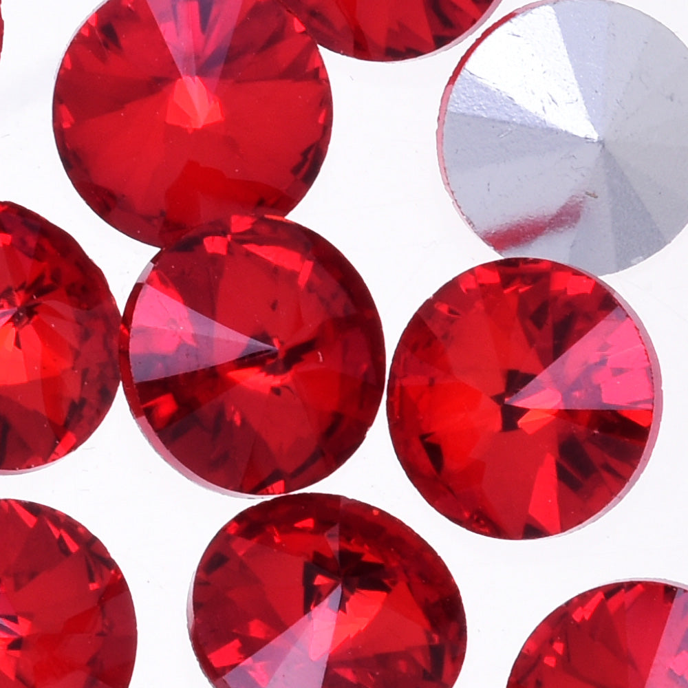 18mm Pointed Back Glass Crystal Rhinestones pointed bottom drill Satellite stone jewelry Design red 50pcs 10182156