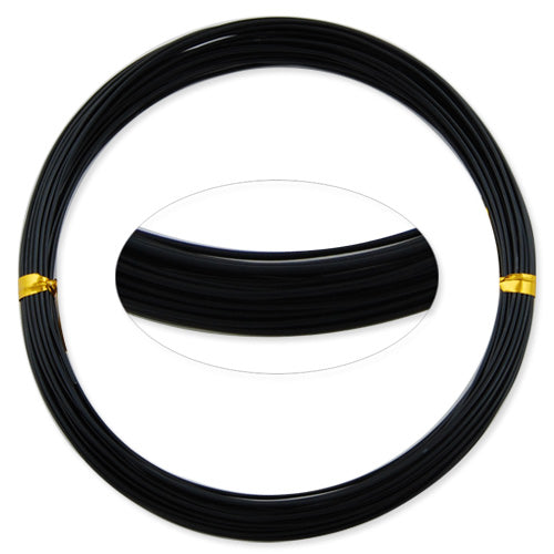 1MM Anodized Aluminum Wire, Black Coated, round,10M/coil,Sold Per 10 coils