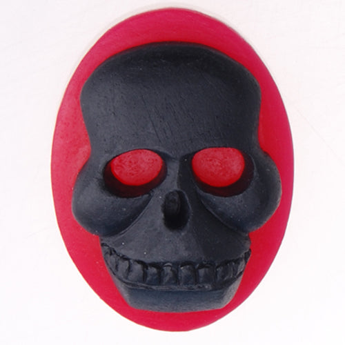 2014 New 18*25MM Oval Skull Resin Flatback Cabochons,Red and Black;sold 20pcs per pkg