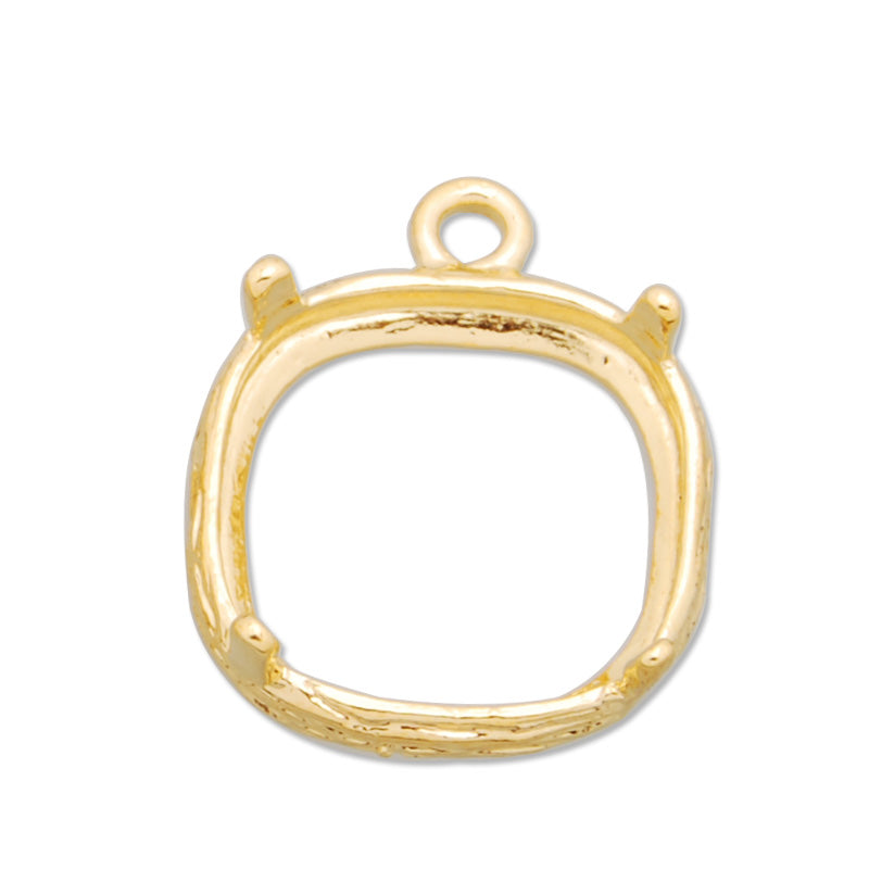 11*11MM Copper Gemstone Bezel,Gold, gemstone connector,sold 20pcs per lot