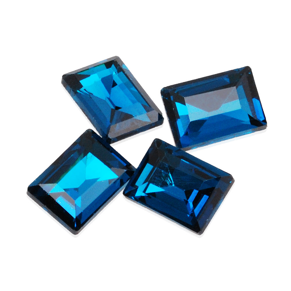 10*14mm Cartesian Rectangular bottom tip Crystal Fancy Stone,Blue Crystal Cushion Cut Gem,4527,20pcs/lot