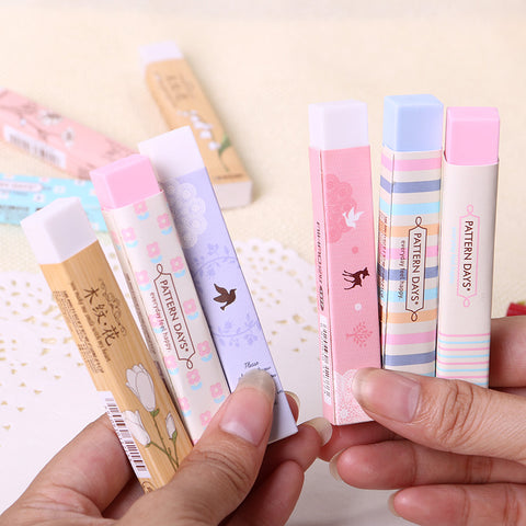 Kawaii Cartoon Pencil Erasers
