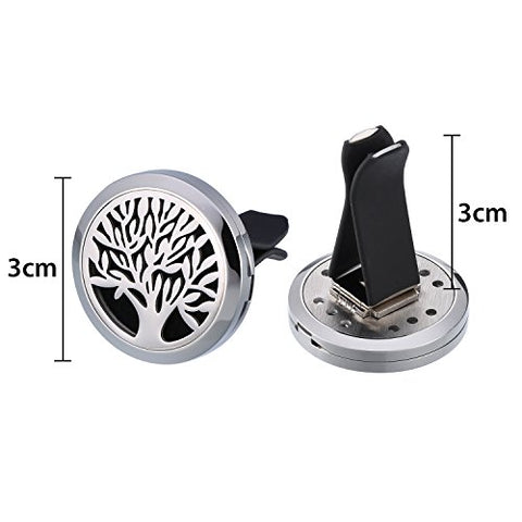 Mtlee Aromatherapy Car Essential Oil Diffuser Locket Clip Pendant