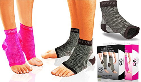 Physix Gear Plantar Fasciitis Socks Arch Support Men & Women