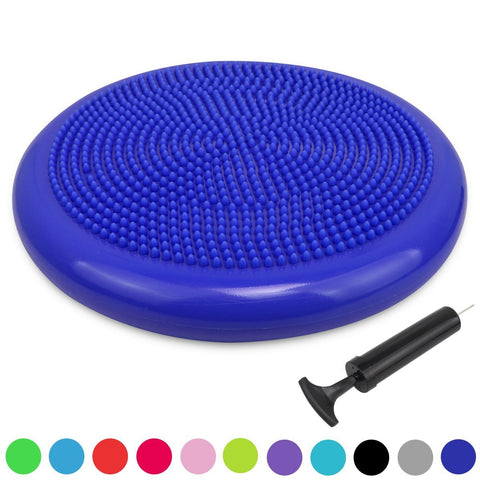 Trideer Inflated Stability Wobble Cushion with Pump, Extra Thick Core Balance Disc