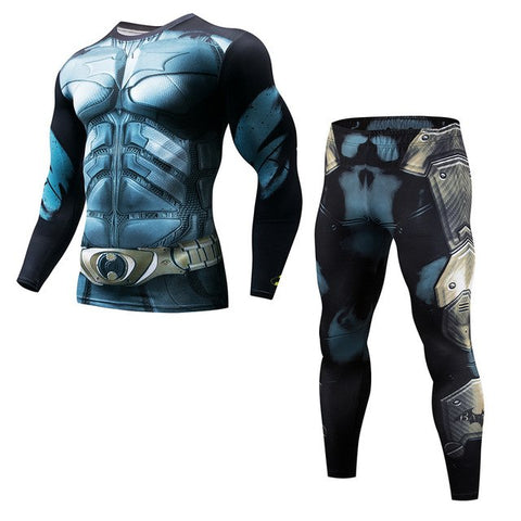 Fitness Mens Lightning Compression Long Sleeve + Leggings