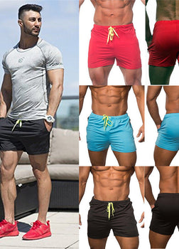 Men's Fitted Bodybuilding Workout Gym Shorts
