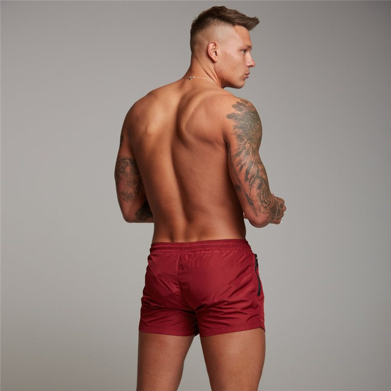 2018 men's fitness quick dry gyms shorts