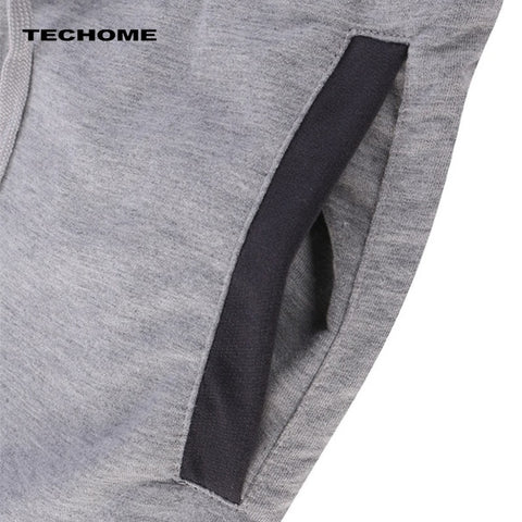 Summer men Leisure Men Knee Length Shorts Color Patchwork Joggers Short Sweatpants Trousers Men Bermuda Shorts roupa masculina