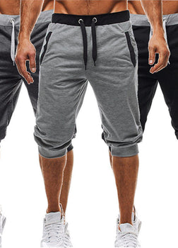BBYES Summer Men Casual Sweatpants Shorts 3/4 Trousers Short Fitness Clothing