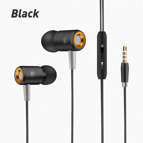 ANBES W508 Earphone With MIC Sweatproof Gym Sport Wired For iPhone xiaomi