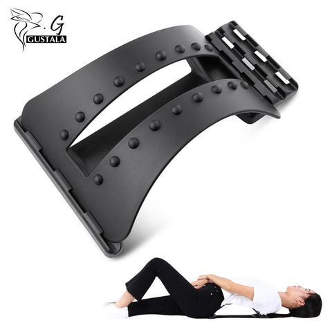 Gustala Back Massager Fitness Massage Equipment Stretcher Spine Pain Relief Chiropractic