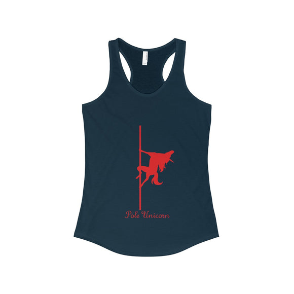 Pole Unicorn - Flame: Racerback Tank
