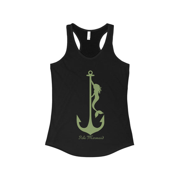 Pole Mermaid - Sea Grass: Racerback Tank