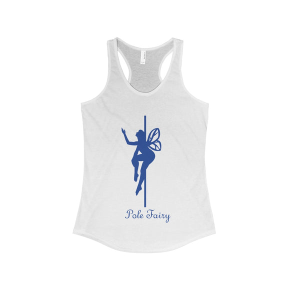 Pole Fairy - Queen Blue: Racerback Tank