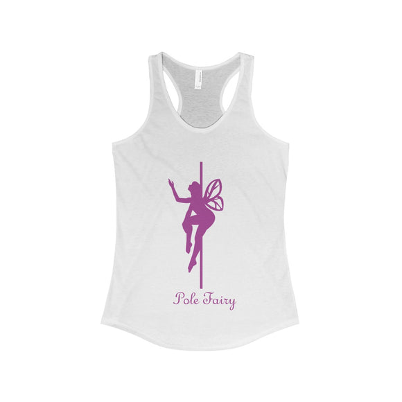 Pole Fairy - Jenna Purple: Racerback Tank