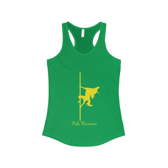 Pole Unicorn - Unicorn King: Racerback Tank