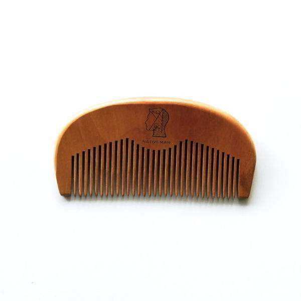Wooden beard & hair pocket comb
