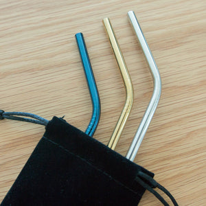 Stainless Steel Straw - Reusable Metal Drinking Straw With Cleaner Brush