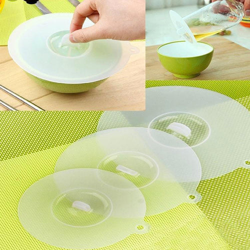 Reusable, Stretchable, Dish-Washable, Silicone Sealing Covers (to replace cling wrap) Leak Proof & BPA Free