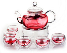 Load image into Gallery viewer, Traditionally Crafted Tea Pot Set (with 6 double-walled tea cups, warmer & infuser).