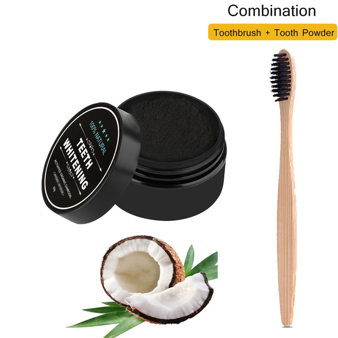Teeth Whitening Bamboo Charcoal Toothbrush with Paste