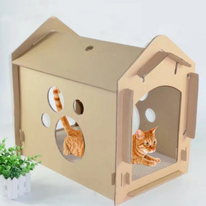 DIY Recycled Cardboard Cat Scratching Haven (BYO Cat)
