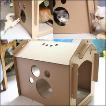 Load image into Gallery viewer, DIY Recycled Cardboard Cat Scratching Haven (BYO Cat)