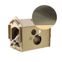 Load image into Gallery viewer, DIY Recycled Cardboard Cat Scratching Haven (BYO Cat). This picture features the corrugated cardboard floor.