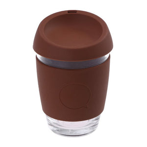 glass travel coffee mug with bpa free silocone lid