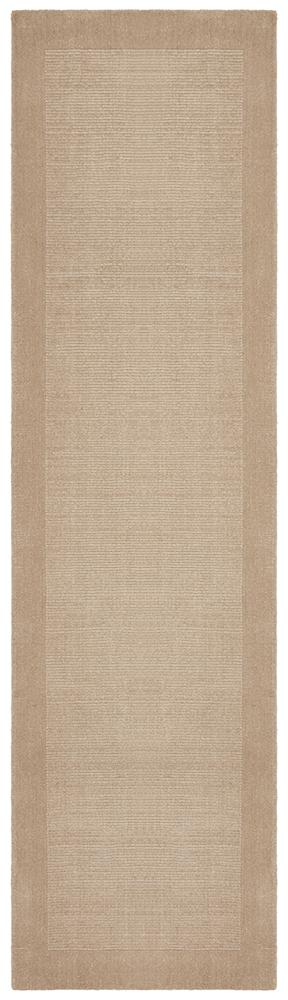 Timeless Loop Wool Pile Bone Coloured Runner Rug