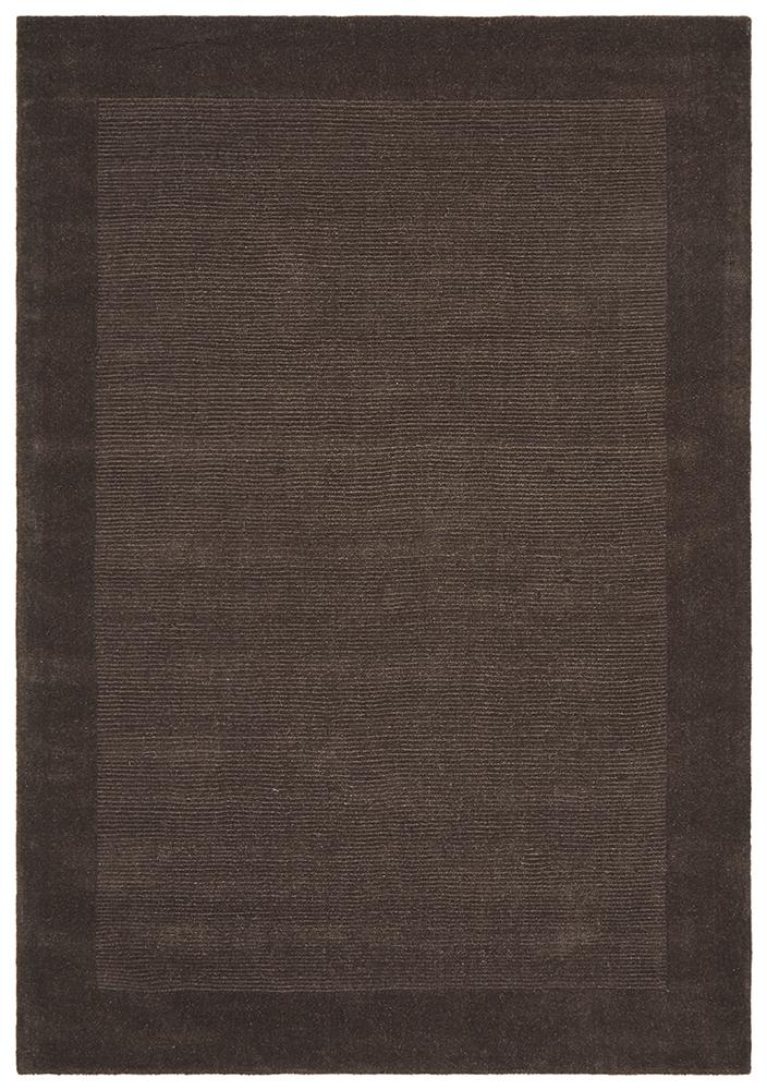 Timeless Loop Wool Pile Chocolate Coloured Rug