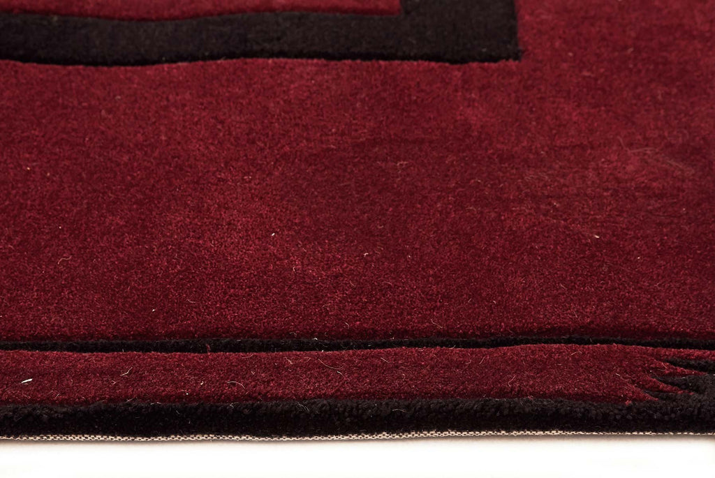 Gold Collection 102 Maroon Rug