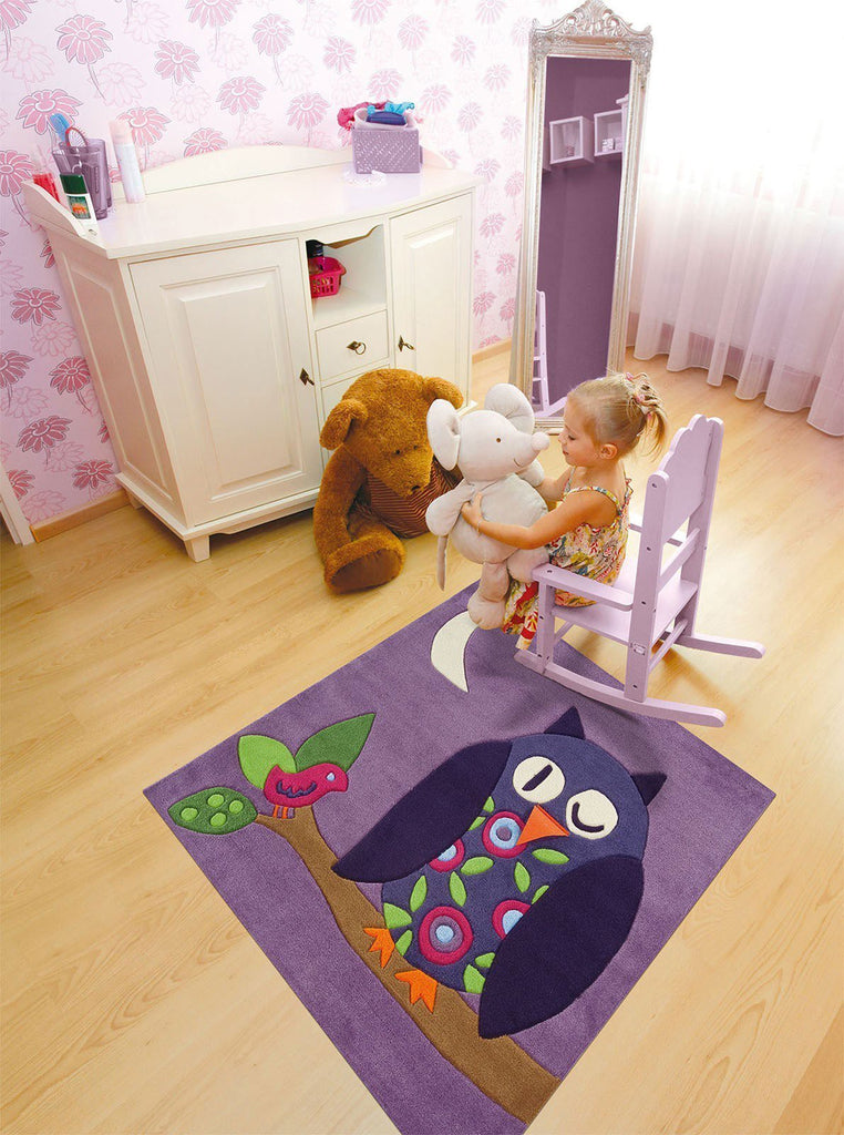 Arte Espina Cute Purple Owl Rug