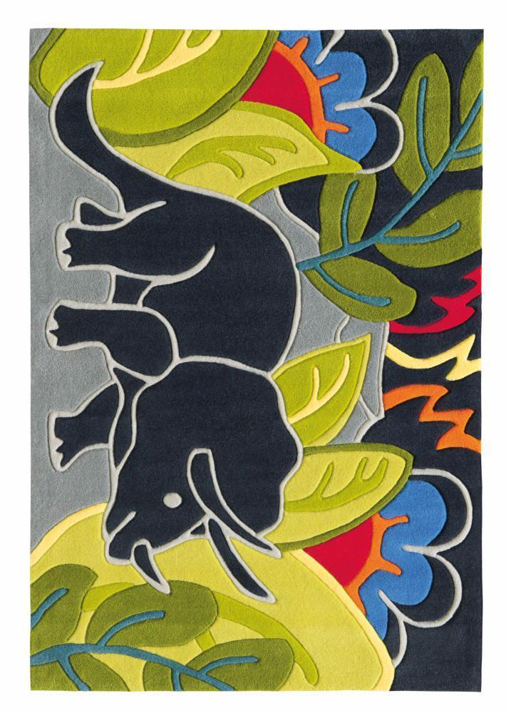 Arte Espina Kids Jungle Theme Rug Multi