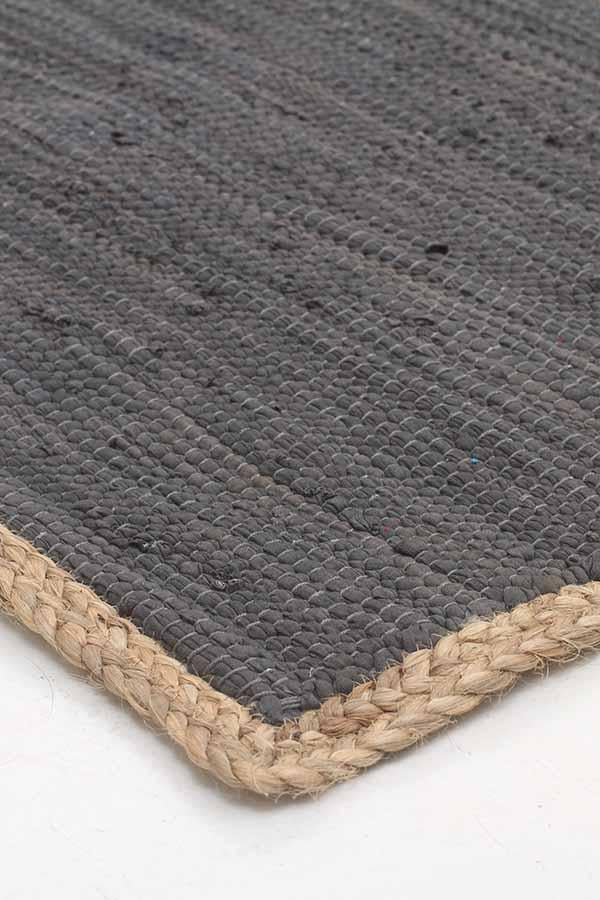 Atrium Reno Cotton And Jute Rug Charcoal
