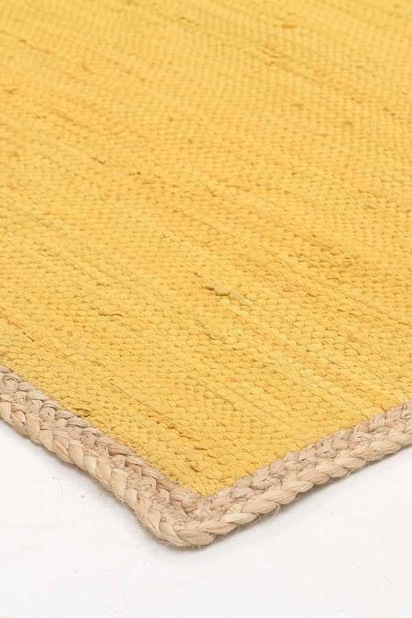 Atrium Reno Cotton And Jute Rug Yellow