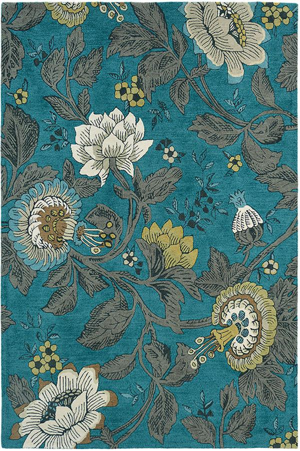 Wedgwood Passionflower Teal 37117 Rug