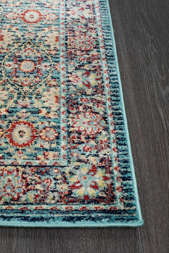 Cascade Moonlight Luminous Blue Runner Rug
