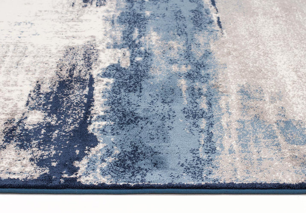 Chelsea Anita Abstract Runner Rug Blue Cream