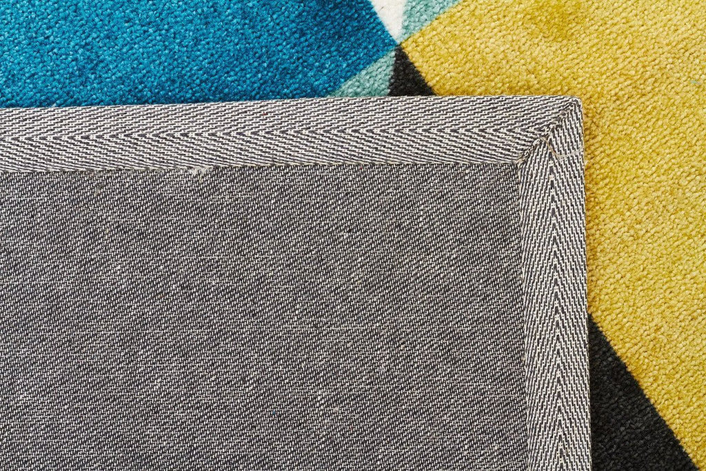 City Stunning Matrix Rug Blue Green