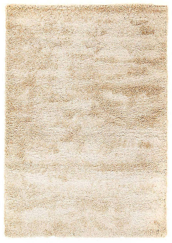 Soft Dense Plain Light Beige Shag Rug