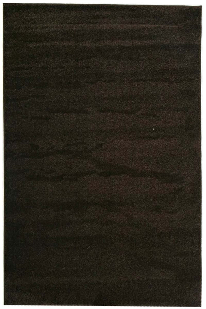 Elements Collection Dense Plain Brown Coloured Rug