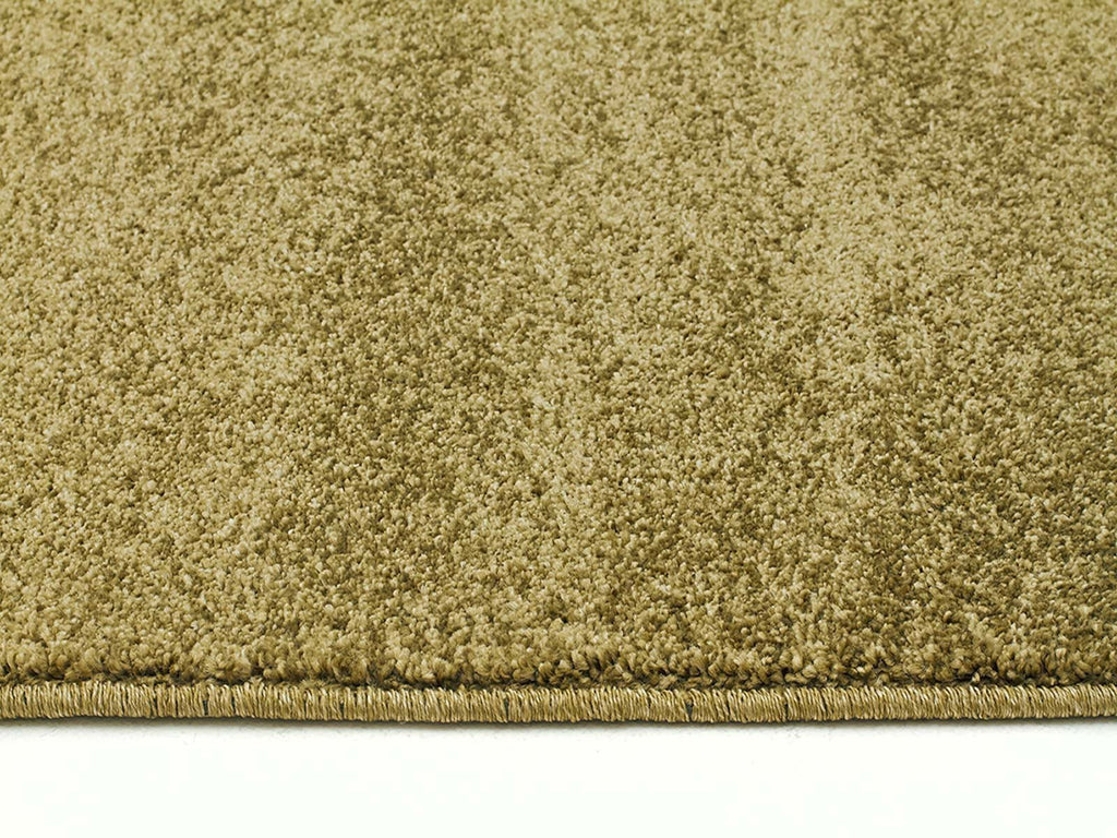 Elements Collection Dense Plain Moss Coloured Rug