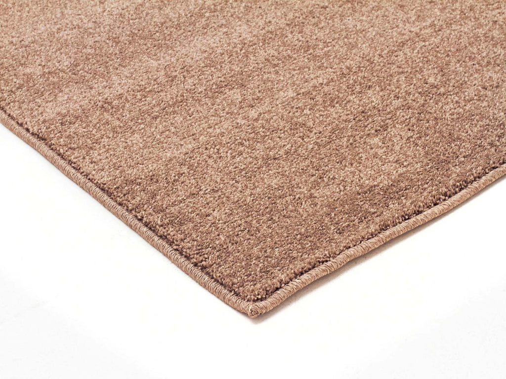Elements Dense Plain Stone Coloured Runner Rug