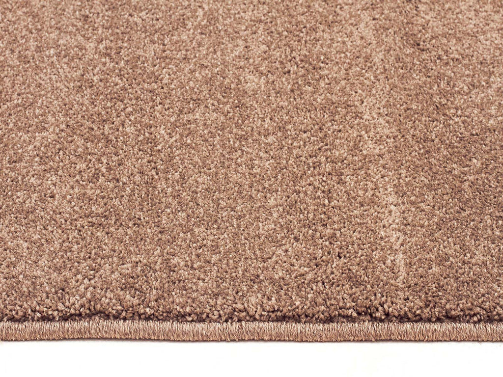 Elements Collection Dense Plain Stone Coloured Rug