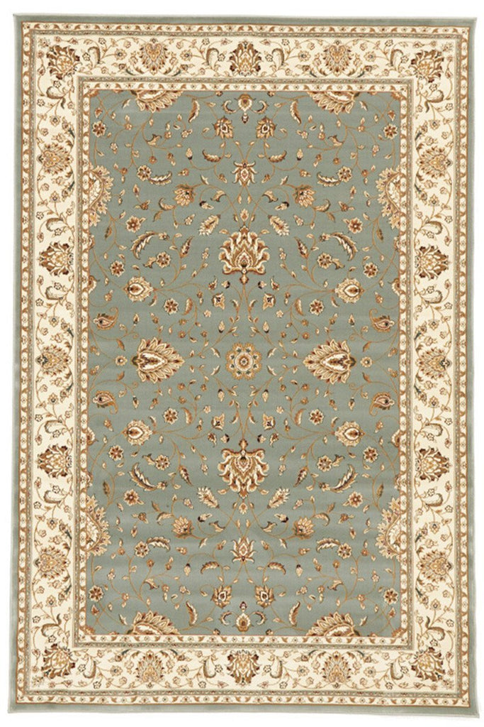 Empire Collection Stunning Formal Classic Design Blue Rug